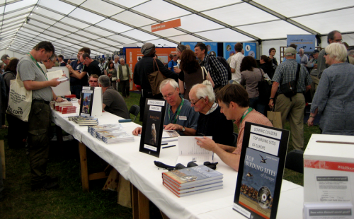Book signing at the Wild Sounds stand