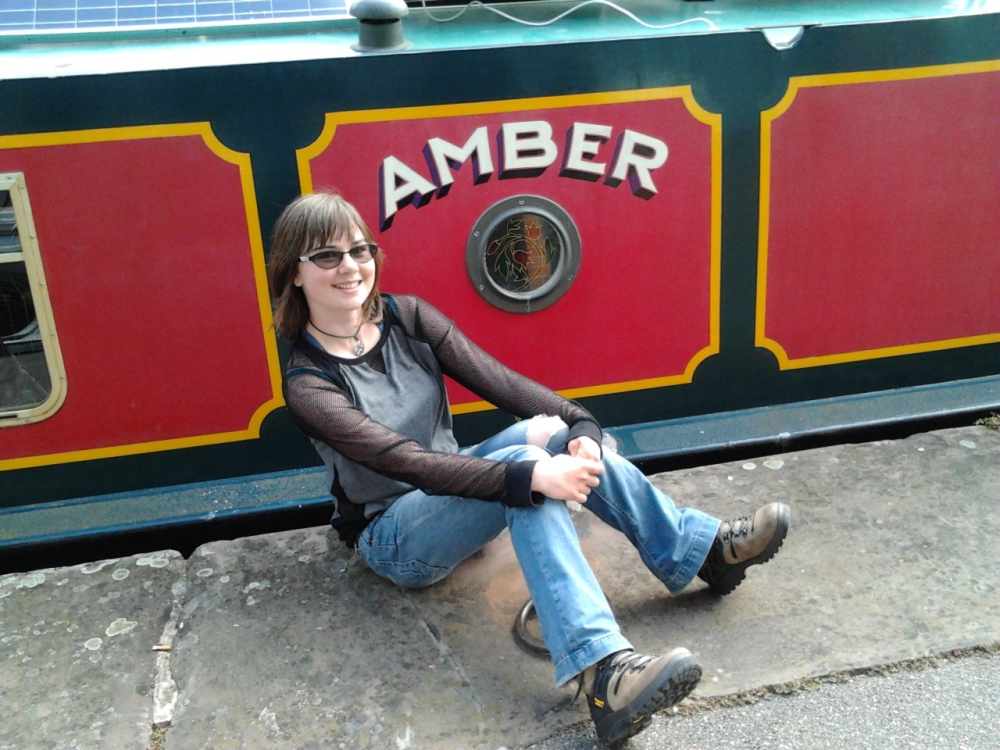 Amber canal barge