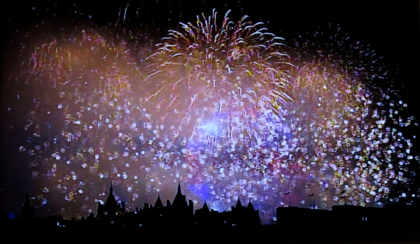IMG_4305 fireworks on TV