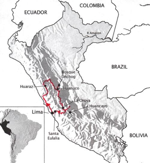 central-peru-map